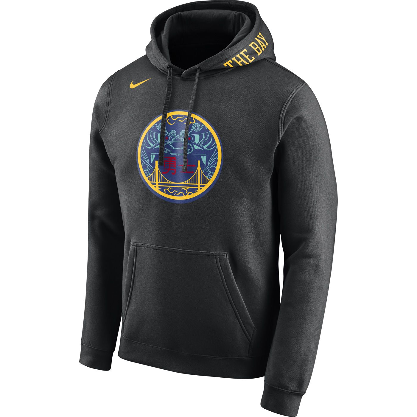 Golden State Warriors Nike Men s City Edition  The Bay  Chinese Heritage  Pullover Club Hoodie - Black 6a353f669