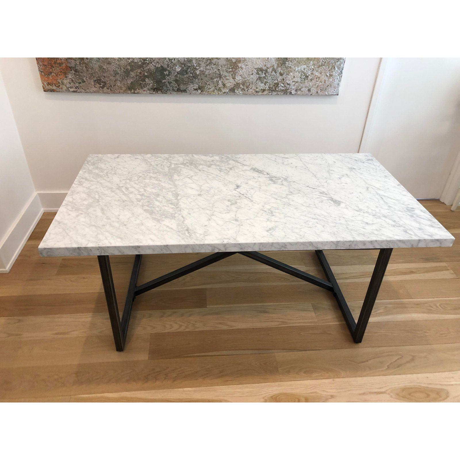 Italian Italian Restoration Hardware Marble Dining Table For Sale Image 3 Of 3 Dining Table Marble Dining Table Marble Dining