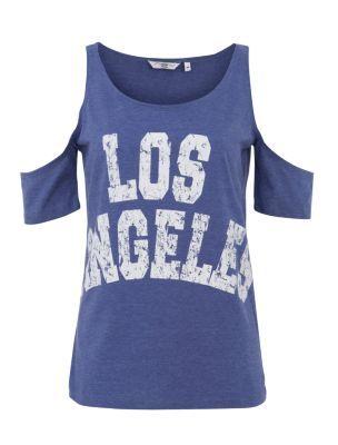 Blue Los Angeles Cold Shoulder T-Shirt