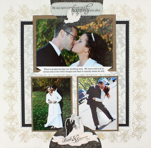 Bride And Groom Only Wedding Ideas: Bride & Groom Divine Scrapbook Layout Page Idea