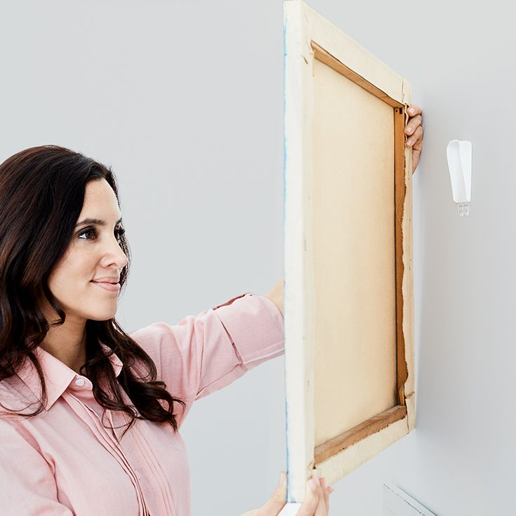 When Hanging Canvas Artwork Try Command Canvas Hangers The Small Sawtooth Ridge On The Canvas Hanger Is Design Canvas Hangers Picture Hangers Hanging Canvas