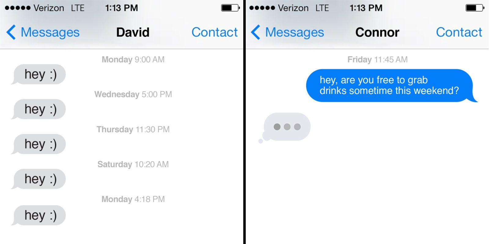 how to carry a conversation with a girl over text