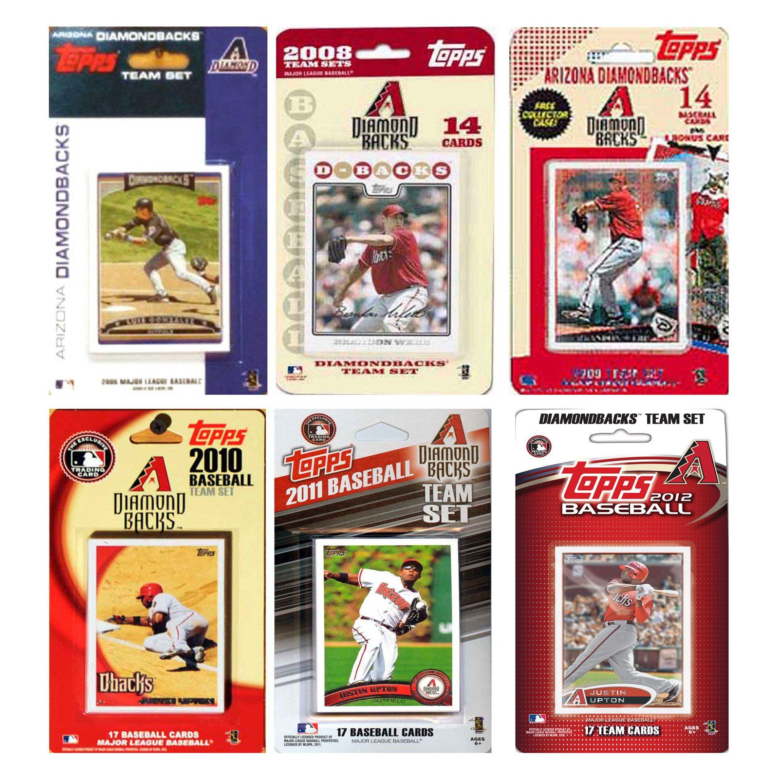 Mlb Arizona Diamondbacks 6 Different Licensed Trading Card