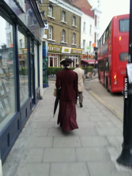 Just on my way to work with Mary Poppins