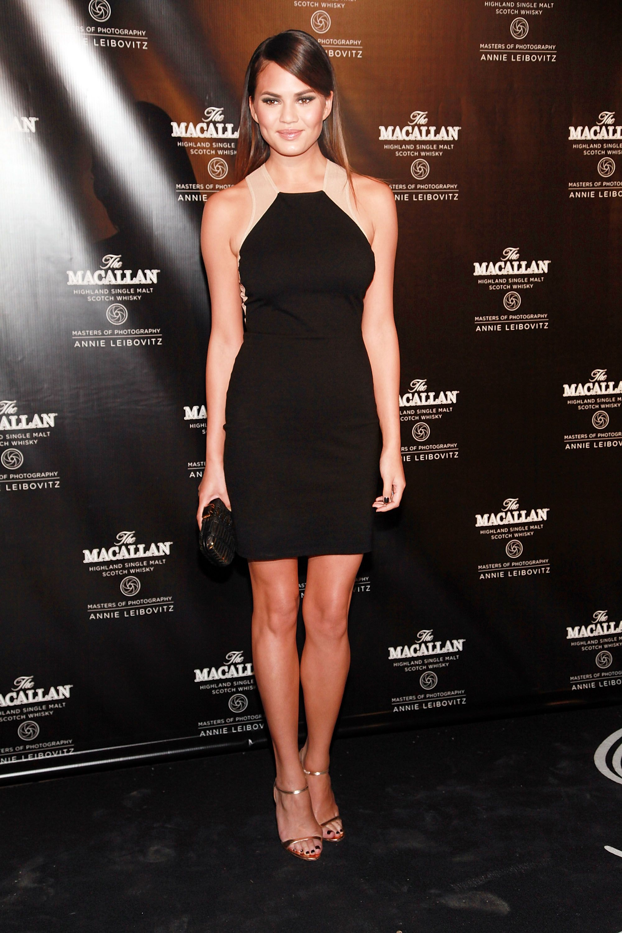 Chrissy Teigen At The Macallan Masters of Photography Series in New York.    - ELLE.com