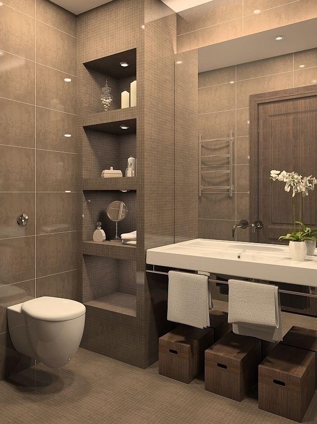 50 ba os peque os geniales cuarto de ba o espacios for Banos modernos para espacios pequenos