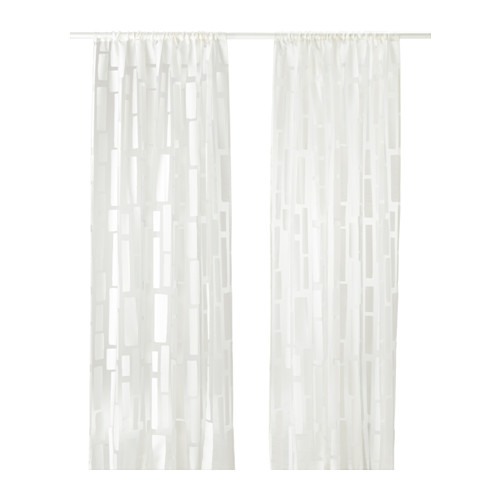 Ikea StrandrÅg Sheer Curtains 1 Pair The Let Daylight Through But Provide Privacy So They Are Perfect To Use In A Layered Window