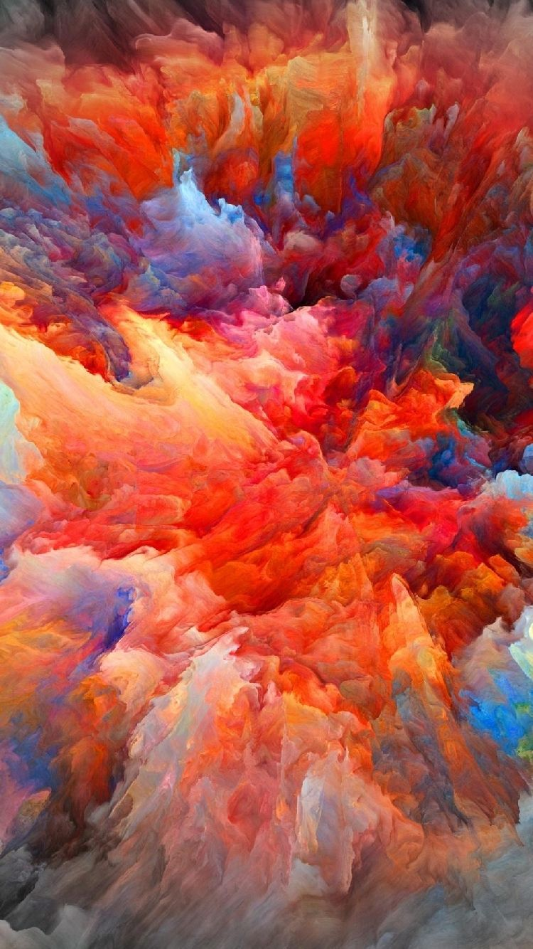 1e0326c8f48 Iphone wallpaper Explosion of color paint   SS18_SIXTH SENSE ...