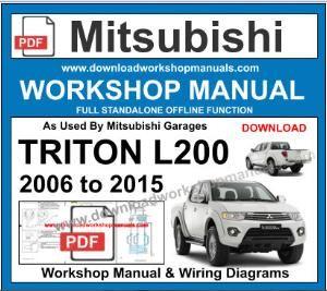 Mitsubishi Triton L200 Workshop Manual Wiring Diagrams Triton L200 Triton Mitsubishi