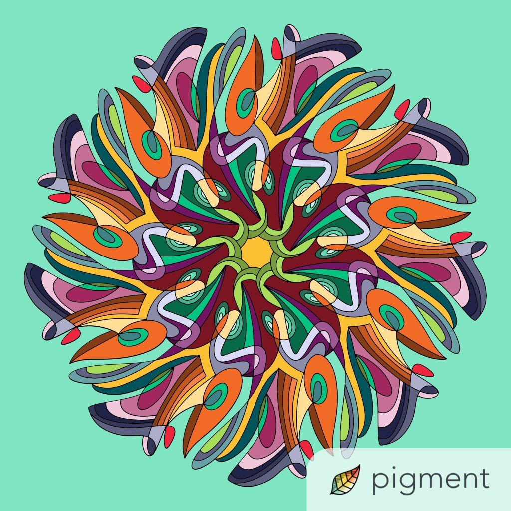 Love this modern mandala, colored by @mrs703 on Twitter, it\'s ...