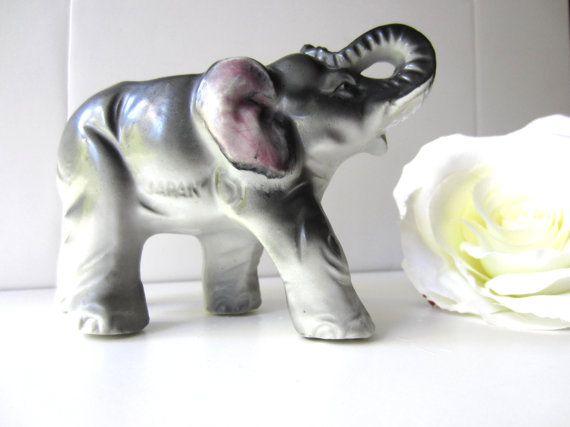 Adorable Elephant Planter Made in Japan by LolaandRettsdelight, $14.00
