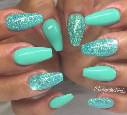 45 trendy nails art designs summer turquoise nails in