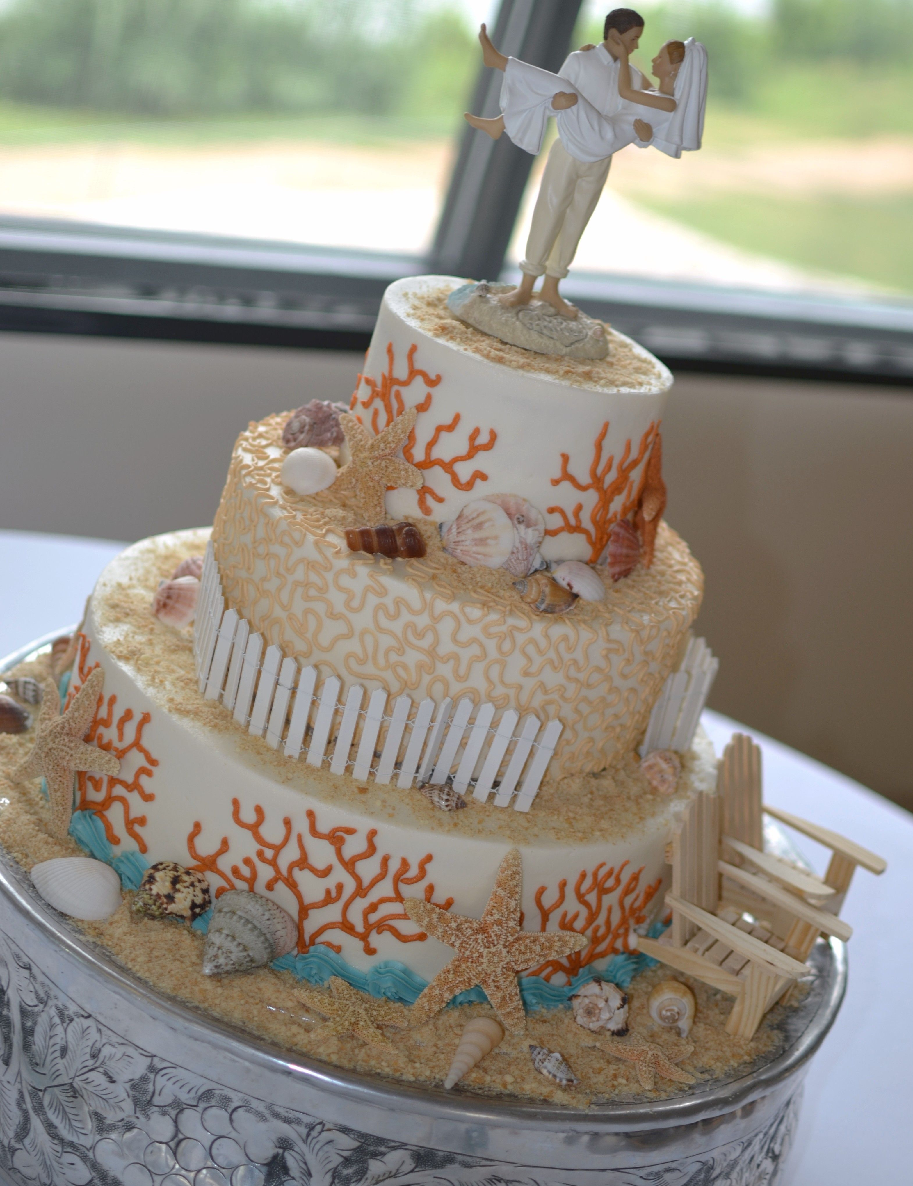 Beach Themed Wedding Cake Cakes Pinterest Themed Wedding Cakes