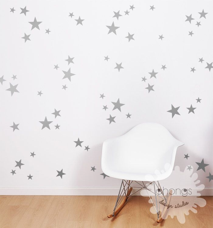 3 Size Star Wall Decal Star Decal Gold Stars Decal Stars