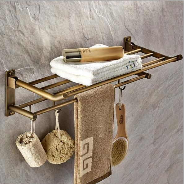 high quality wall mounted 50 cm towel rack antique towel holder copper bathroom accessories towel rail - Bathroom Accessories Towel Rail