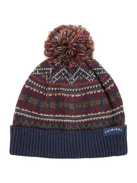 60213b72ebf All Over Fairisle Hat