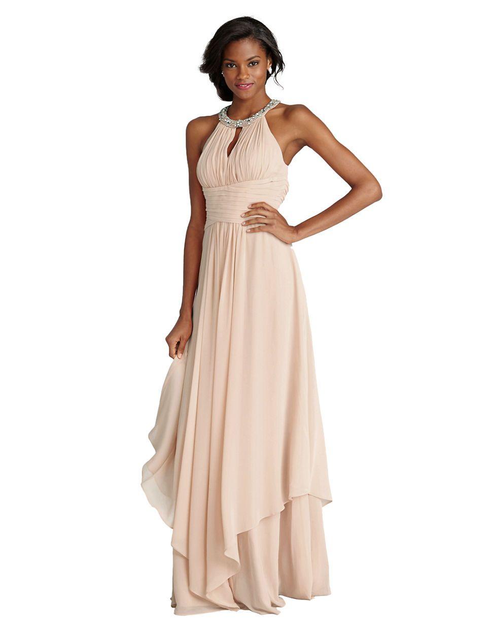 Donna Morgan | Bridesmaid Dresses | Siena Halter Keyhole ...