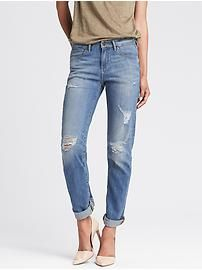 Destroyed Light Wash Straight Jean