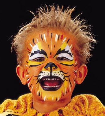 Kinderschminken Lowe Schminke Karneval Fasching Schminkidee