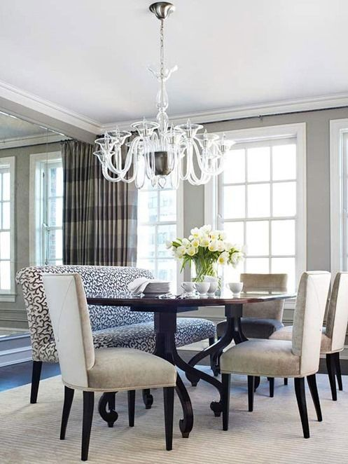 More Fabric Chairs Straight Leg With Curvy Dark Wood Dining Table