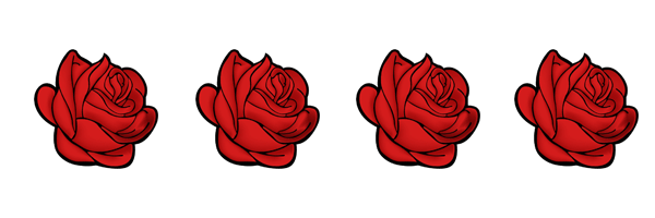 Rosas Rojas Para Imprimir Hojas Decoradas En 2019 Pinterest