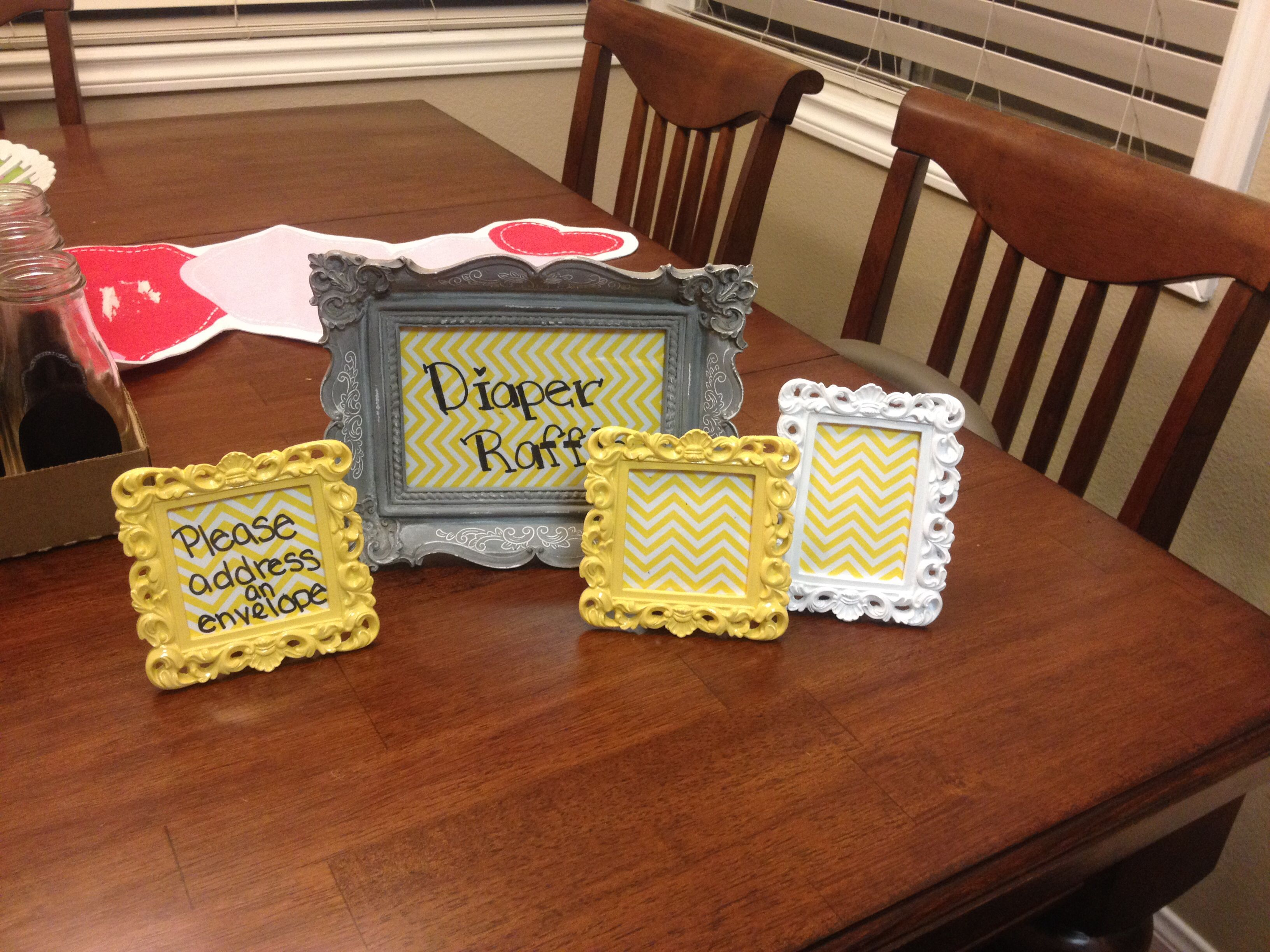 Cute frames with directions for guests