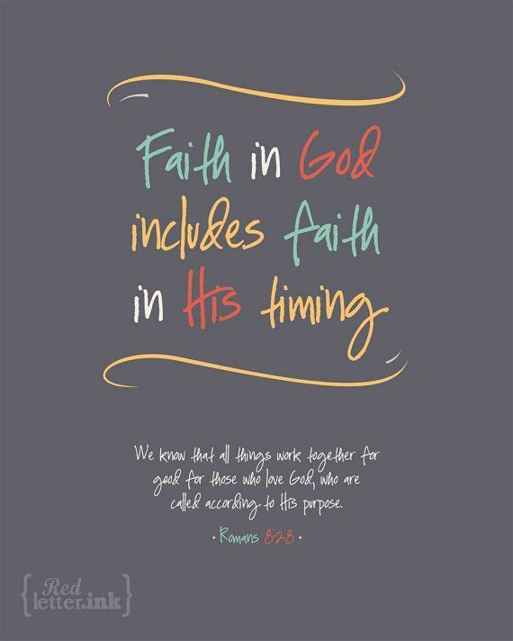 Wall Art (LifePrints) - Faith in God (grey, yellow