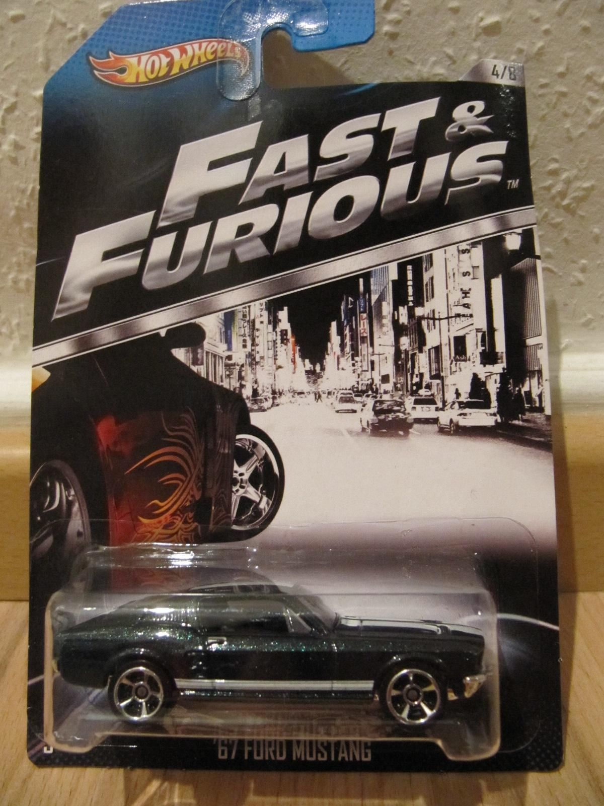 Hot wheels ford mustang fast furious movie car black 1967