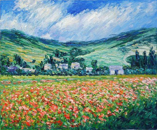Claude Monet - Poppy Field Near Giverny