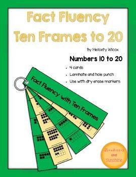Math Fact Fluency Strips Ten Frames Math Fact Fluency Fact Fluency Math Facts