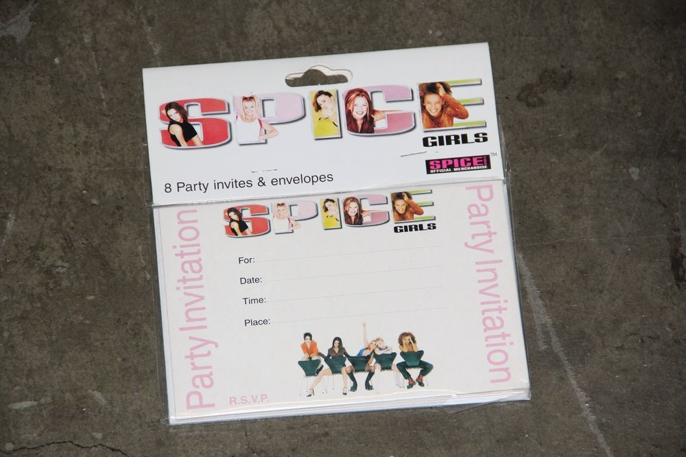 SPICE GIRLS Party Invitations & Envelopes * Sealed in Original ...