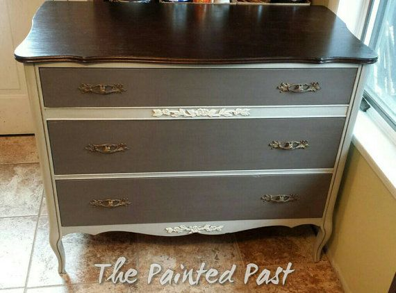 Elegant french style dresser by PaintedPastFurniture on Etsy