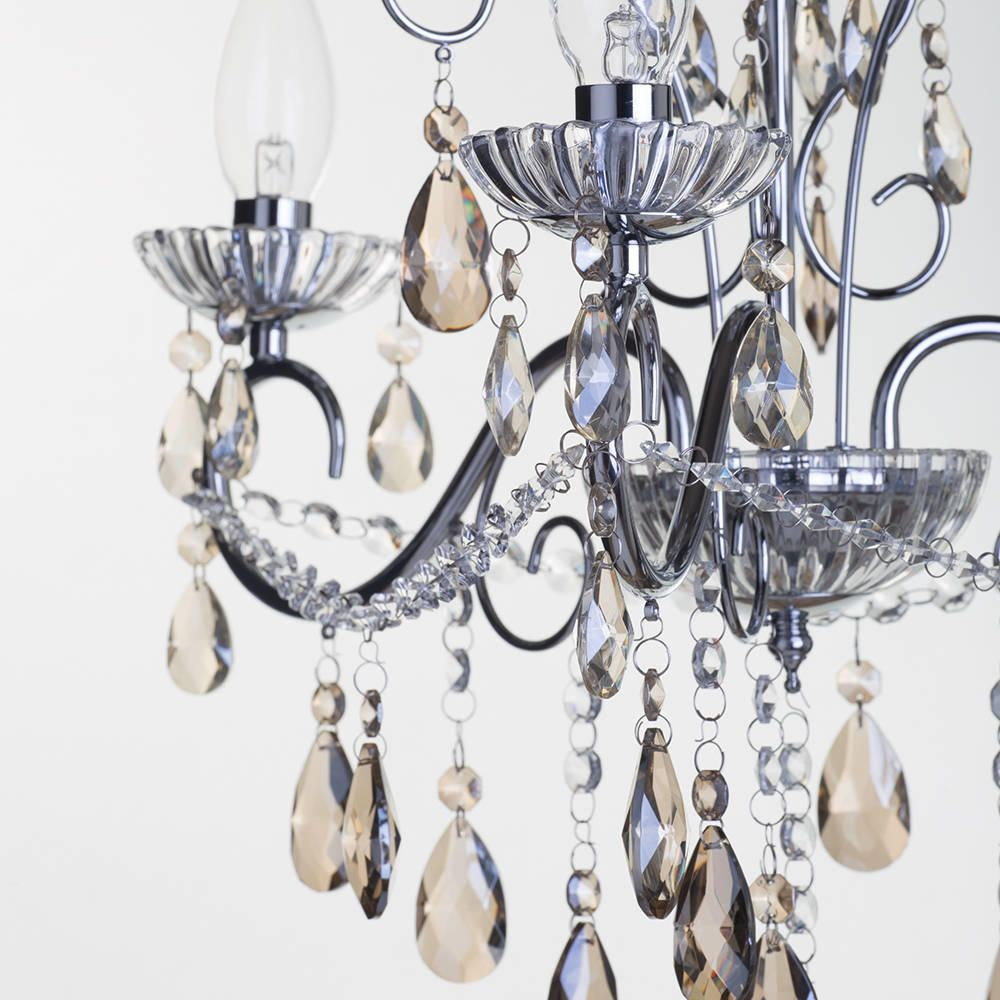 Champagne Coloured Crystal Bathroom Chandelier