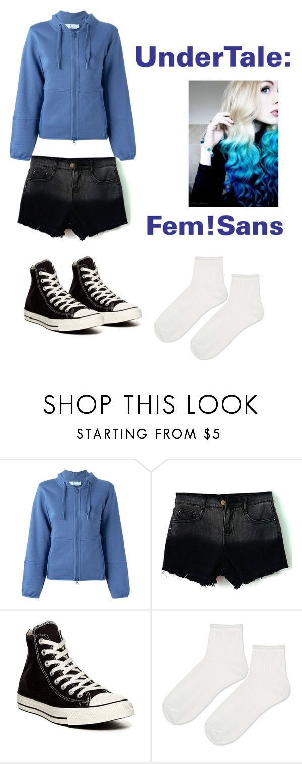 """""""UnderTale: Fem!Sans"""" by derpiplier ❤ liked on Polyvore featuring STELLA McCARTNEY, Converse and Topshop"""