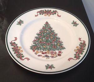 johnson bros victorian christmas dinner plate 10 5 christmas tree ebay