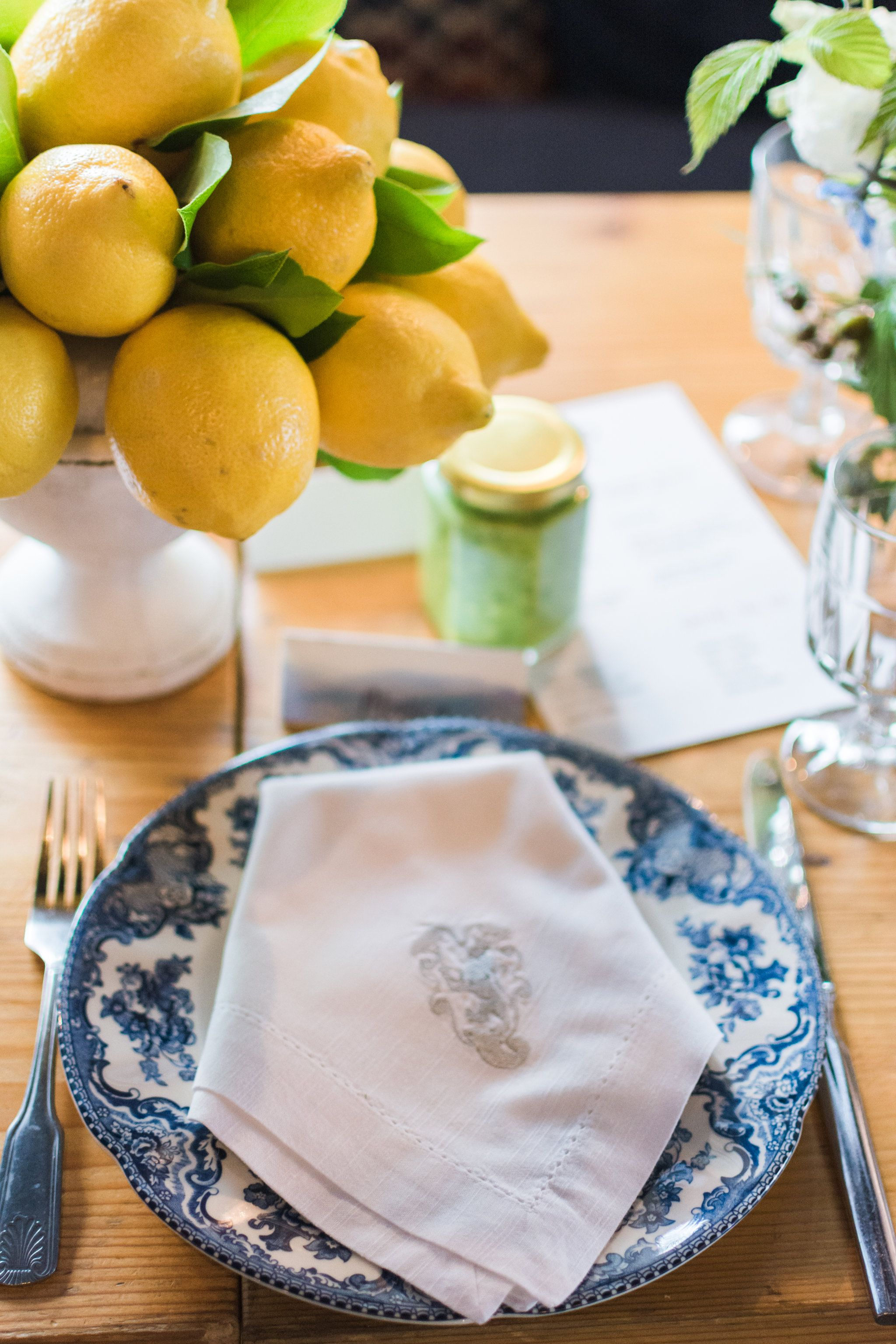 Lemon Topiaries And Pretty Blue China Florals Layers Of Lovely