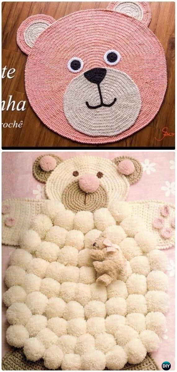 Diy Crochet Area Rug Ideas Free Patterns Crochet Stuff Pinterest