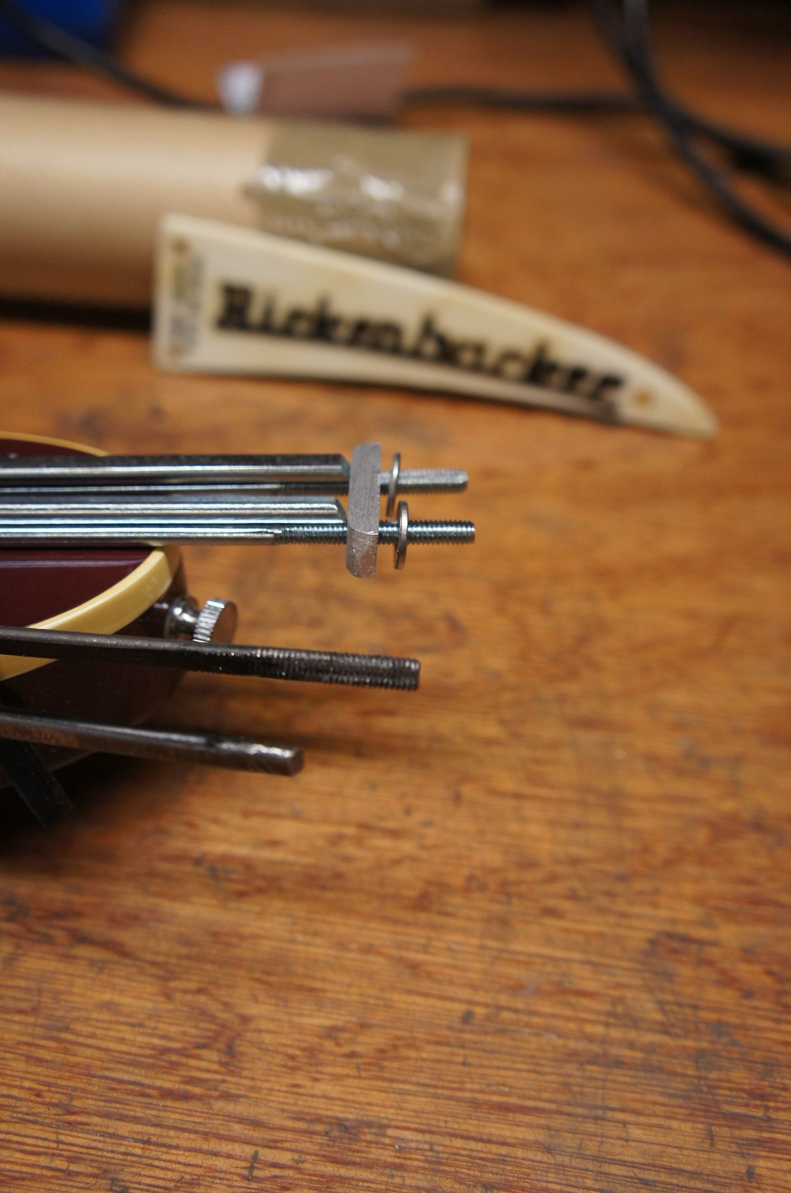medium resolution of new vs old hairpin truss rods due for replacement in a rickenbacker 4001 bass about