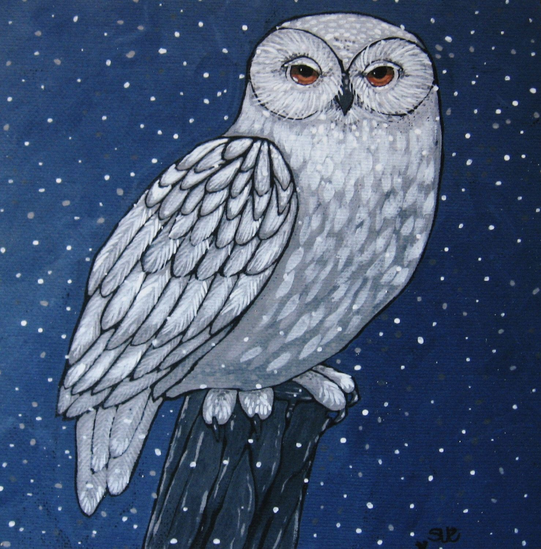 Pin by Angela Spencer on Art: Owls | Wood print, Owl art ...