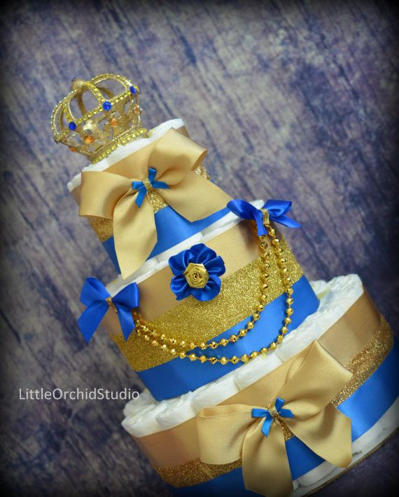 Royal Prince Diaper Cake/ Little Prince/ Royal Baby/ Gold