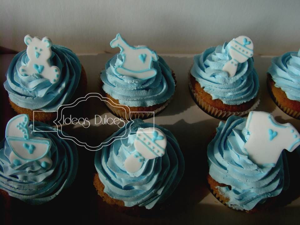 Cupcakes para baby shower baby shower decoration ideas for Baby shower cupcake decoration ideas
