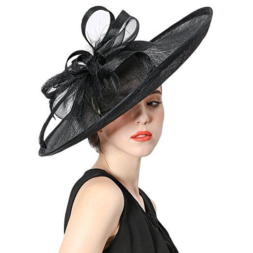 507948558fa Koola s hats Fascinator Hat Casual Outdoor Hatinator Hats Silver Party Wear  (Black). UK hats. Women hats. It s an amazon affiliate link.