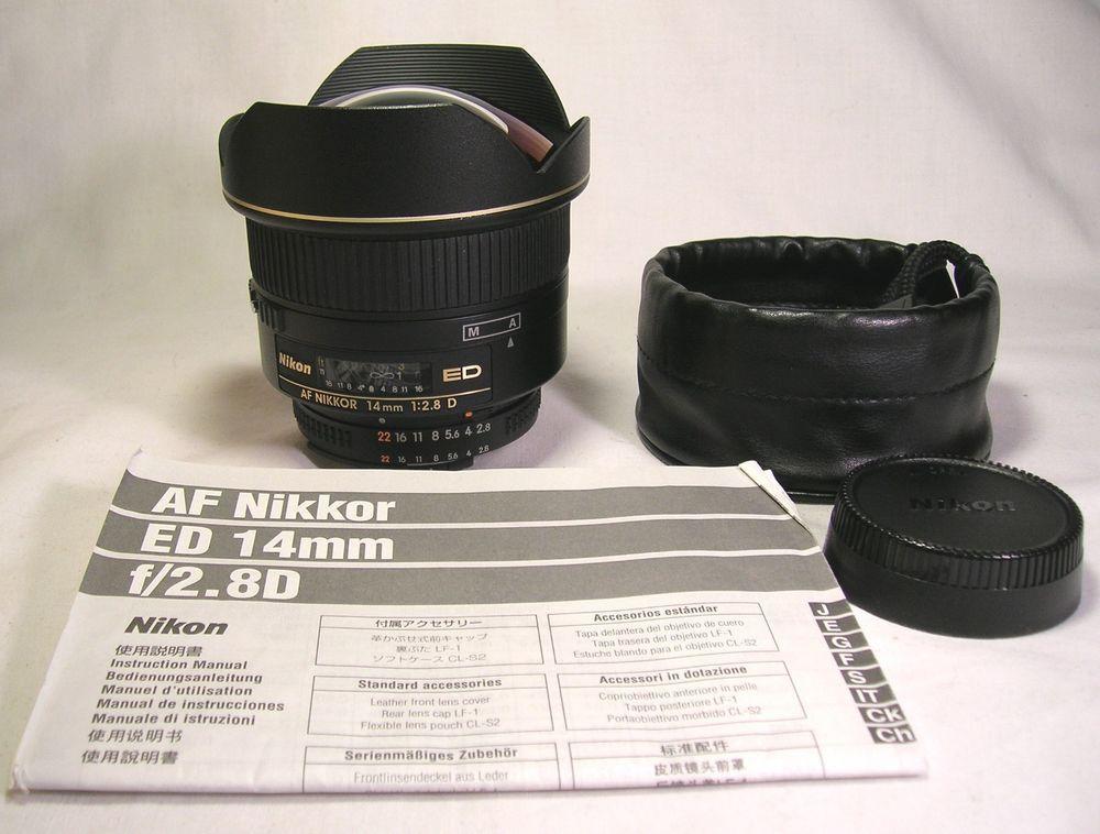 Genuine Nikon Af Nikkor 14mm F 2 8 D Ed Rf Aspherical Camera Lens Exc Cond Nikon Ebay Online