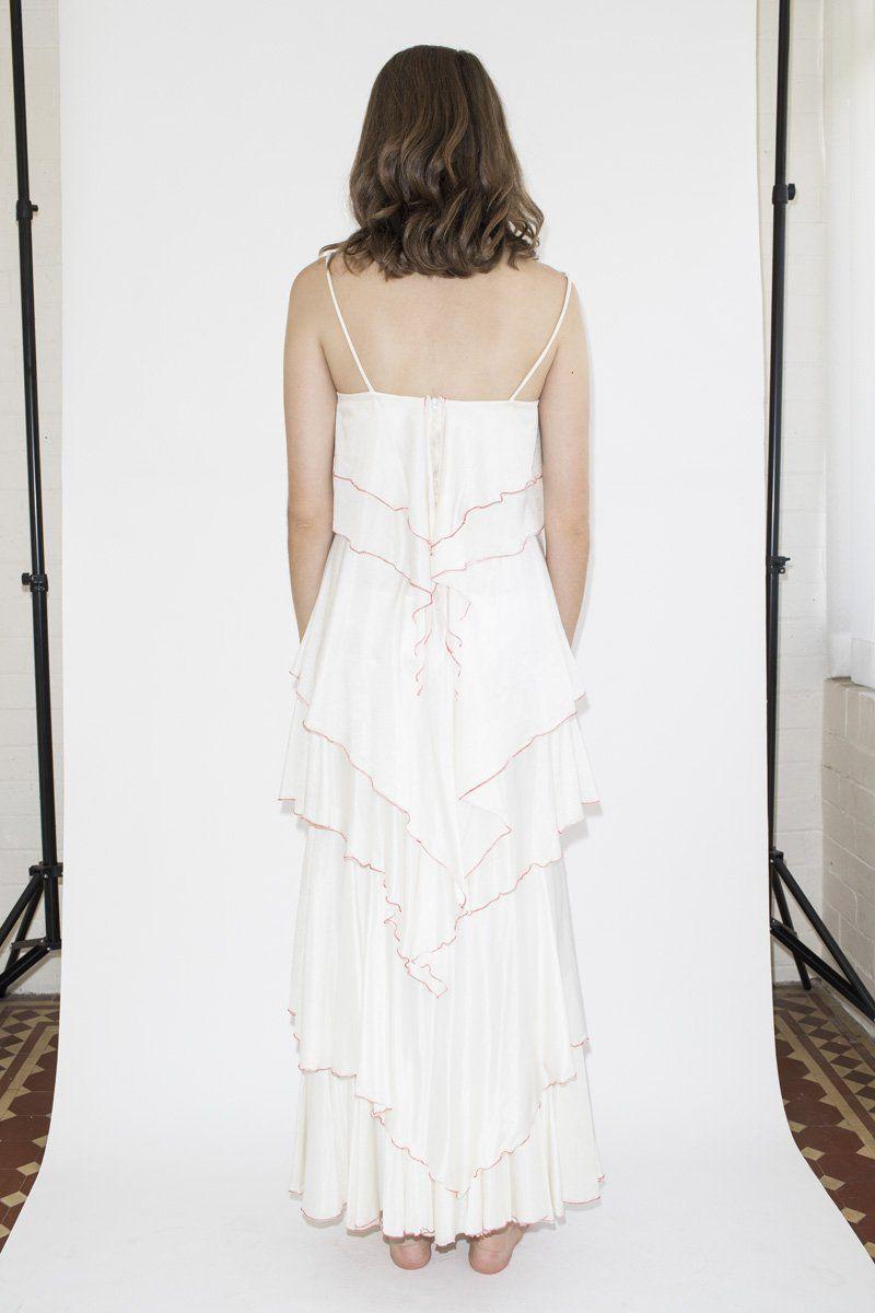 Vintage Ruffle Layer Dress Dresses, Ruffle dress, Layers