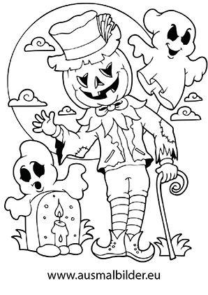 gruselige halloween ausmalbilder  Ausmalbilder fr kinder