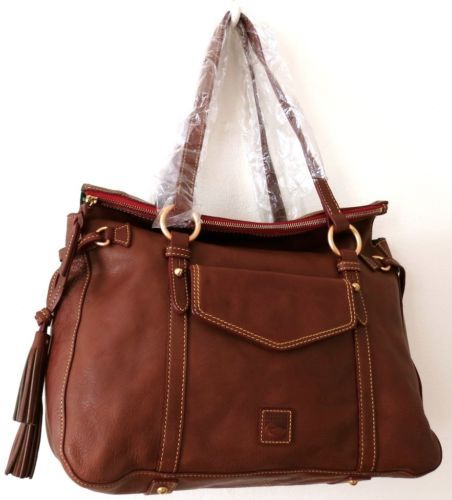 Dooney Bourke Chestnut Floine Leather Smith Bag 398 Gorgeous
