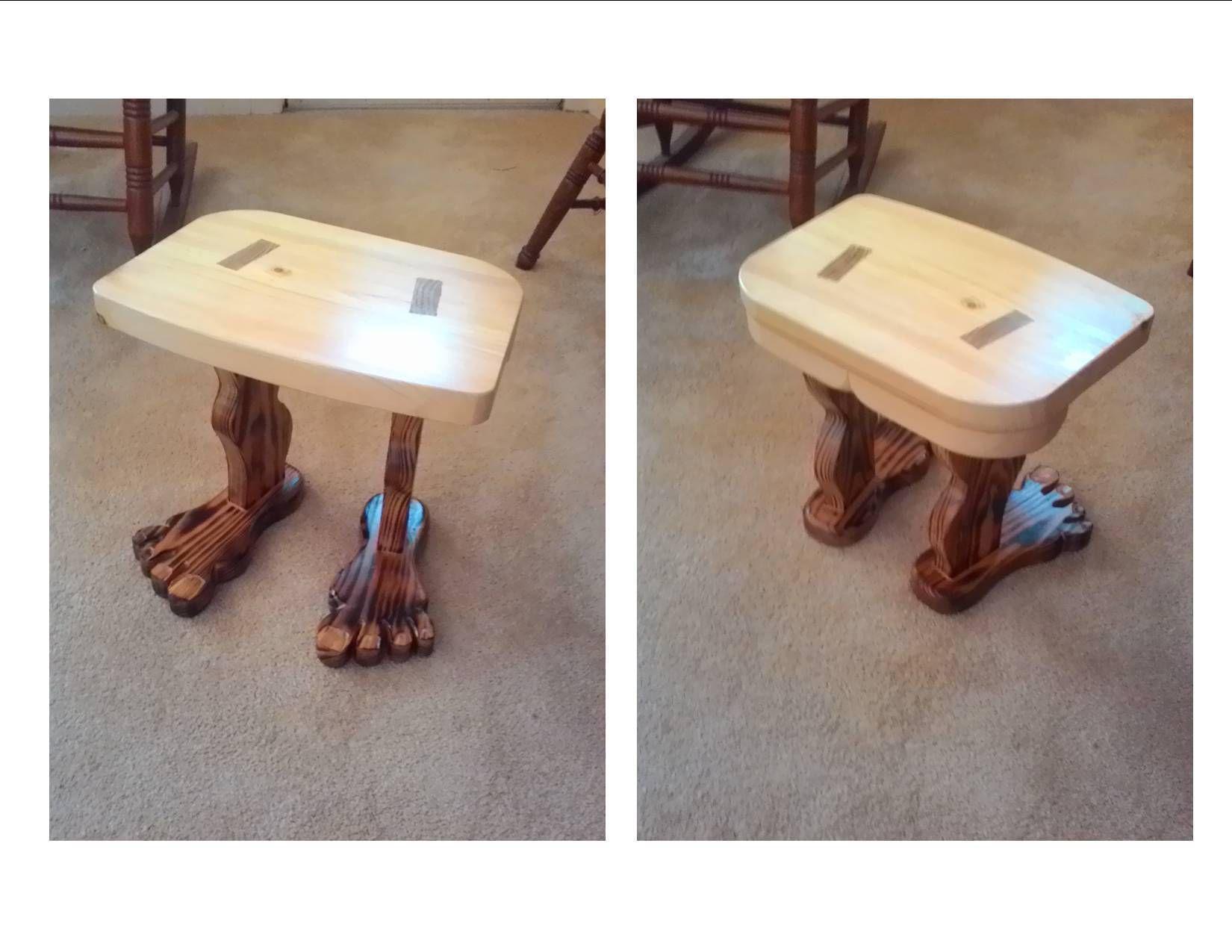 Footstool by gary mercer wood bookshelves footstool