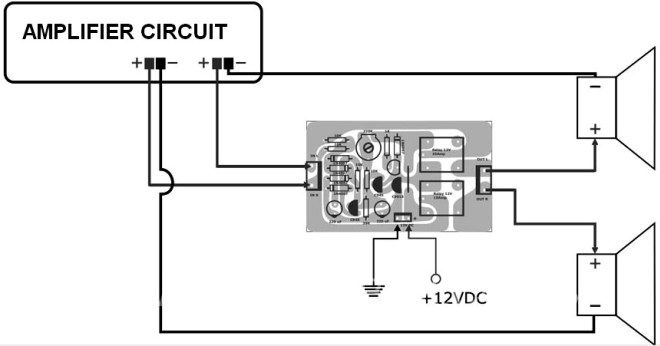 Active Speaker Protector Connection | Circuit design ...