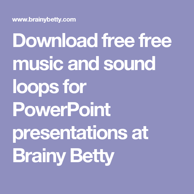 download free free music and sound loops for powerpoint, Powerpoint templates