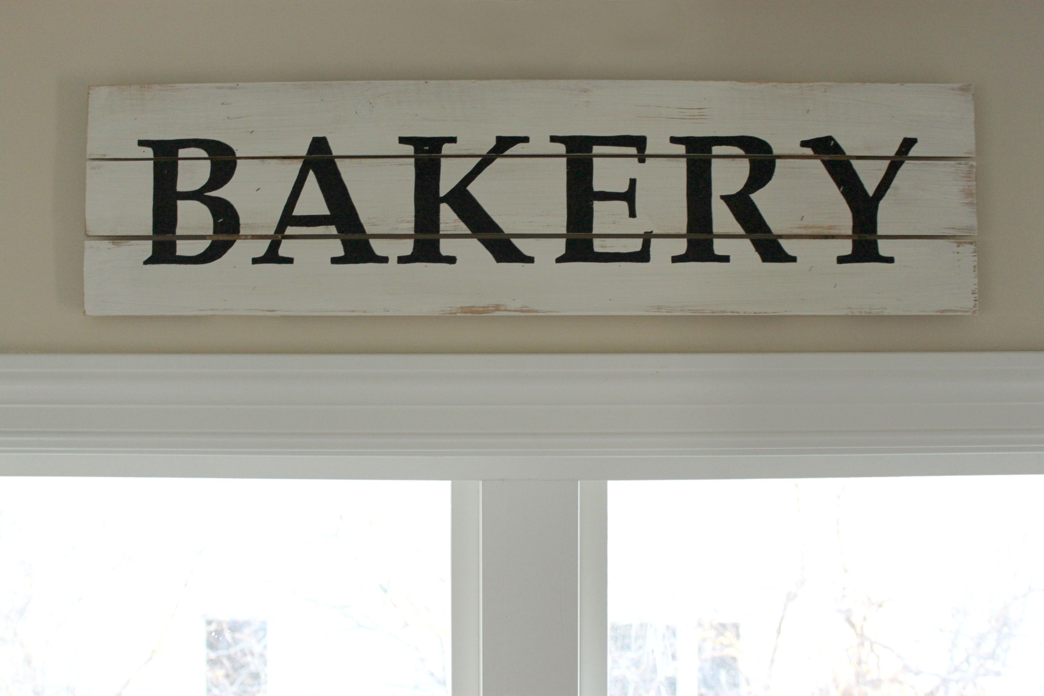 Diy Farmhouse Style Bakery Kitchen Sign This Is Such An Easy Decor Project